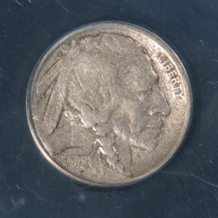 1918-D, 8 over 7 Buffalo Nickel Overdate