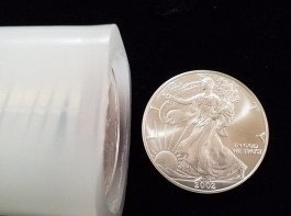 2002 1 ozt Silver American Eagle Coins BU (Tube of 20)