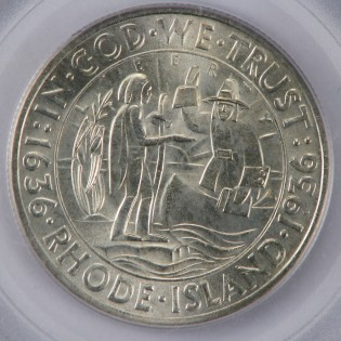 1936 Rhode Island 50 Cent Commemorative